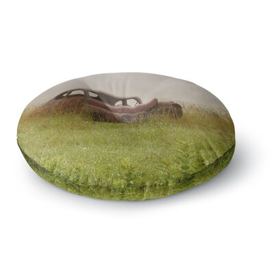 Angie Turner Forgotten Car Grass Round Floor Pillow Size: 26 x 26