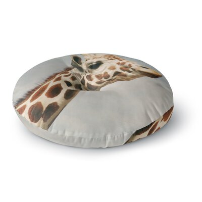 Angie Turner Giraffe Animal Round Floor Pillow Size: 23 x 23