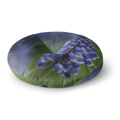Angie Turner Grape Hyacinth Round Floor Pillow Size: 26 x 26