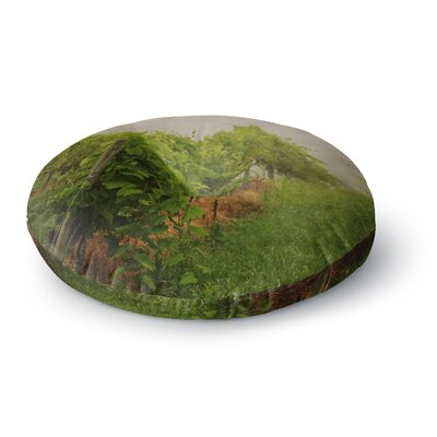 Angie Turner Grape Vines Foggy Round Floor Pillow Size: 23 x 23