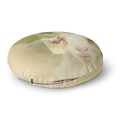 Angie Turner Happy Goat Smiling Animal Round Floor Pillow Size: 26 x 26