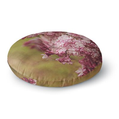 Angie Turner Lilacs Flower Round Floor Pillow Size: 26 x 26