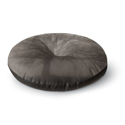 Angie Turner Lonely Tree Dark Fog Round Floor Pillow Size: 26 x 26