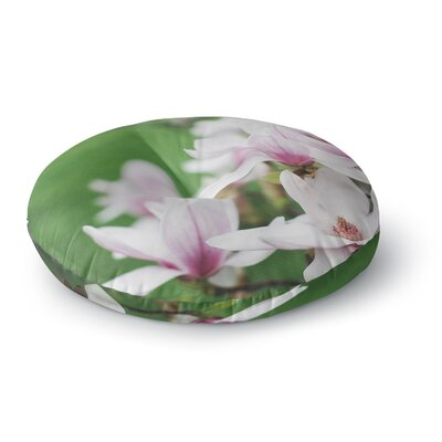 Angie Turner Magnolias Round Floor Pillow Size: 23 x 23