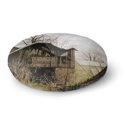 Angie Turner Mail Pouch Barn Wooden House Round Floor Pillow Size: 26 x 26