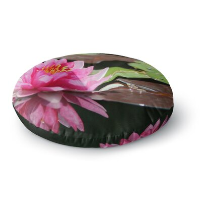 Angie Turner Water Lily Round Floor Pillow Size: 23 x 23