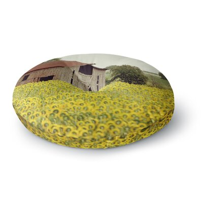 Angie Turner Field of Sunflowers Nature Round Floor Pillow Size: 26 x 26