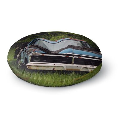 Angie Turner Old Ford Truck Digital Round Floor Pillow Size: 23 x 23