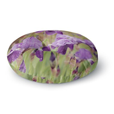 Angie Turner Irises Floral Round Floor Pillow Size: 26 x 26