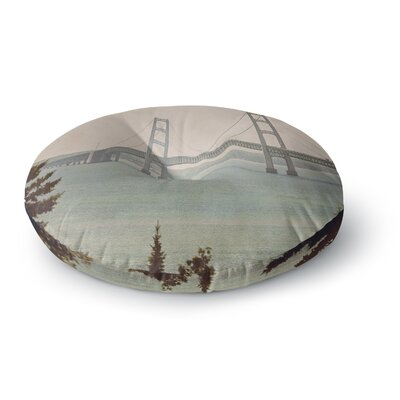 Angie Turner Mackinac Bridge Travel Round Floor Pillow Size: 26 x 26