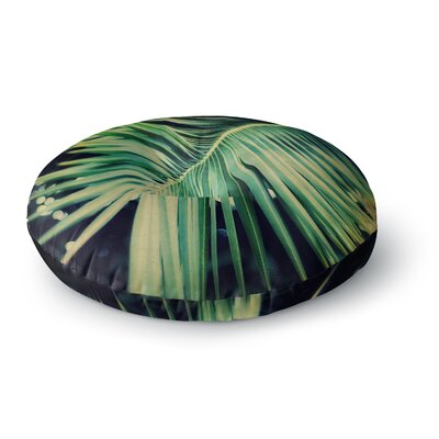 Angie Turner Palm Frond Nature Round Floor Pillow Size: 23 x 23