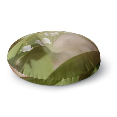 Angie Turner Lily of The Valley Round Floor Pillow Size: 26 x 26