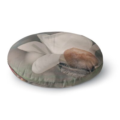 Angie Turner Magnolia Digital Floral Round Floor Pillow Size: 23 x 23