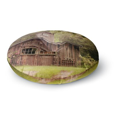 Angie Turner Shabby Elegance Barn Nature Photography Round Floor Pillow Size: 23 x 23