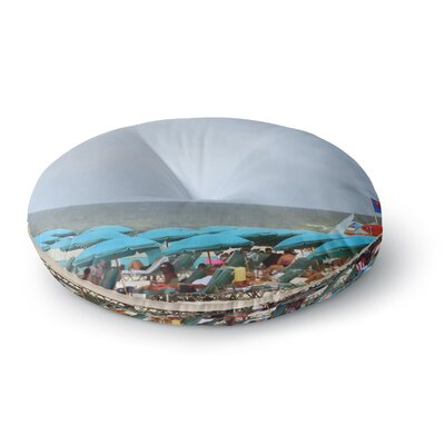 Angie Turner Superman at the Beach Round Floor Pillow Size: 26 x 26