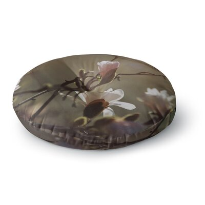 Angie Turner Magnolia Blooms Round Floor Pillow Size: 26 x 26