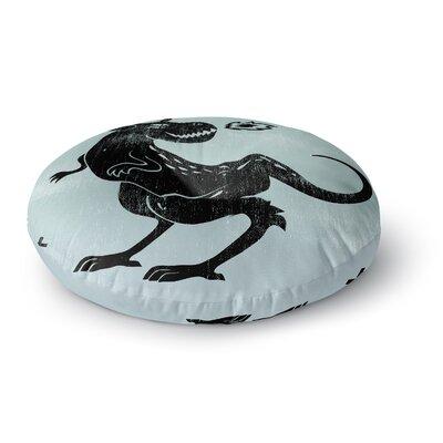 Anya Volk Fire Monster Illustration Round Floor Pillow Size: 23 x 23
