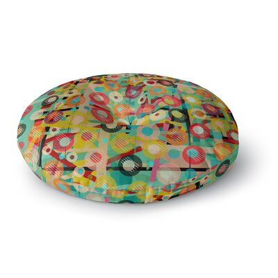 Bri Buckley Gift Wrapped Crazy Abstract Round Floor Pillow Size: 23 x 23