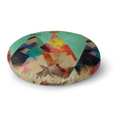 Bri Buckley Rainbow Peaks Triangles Round Floor Pillow Size: 26 x 26