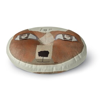 Bri Buckley Fox Face Round Floor Pillow Size: 23 x 23