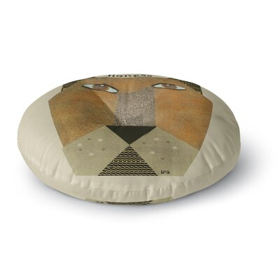 Bri Buckley Lioness Round Floor Pillow Size: 26 x 26