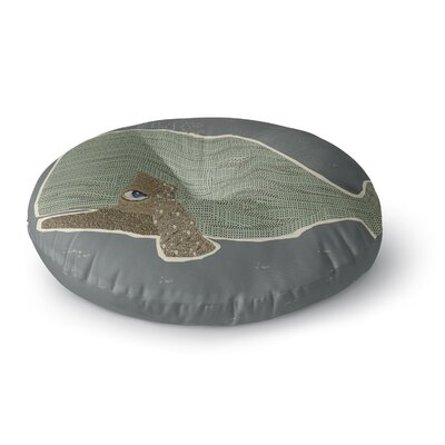 Bri Buckley Whale Round Floor Pillow Size: 26 x 26
