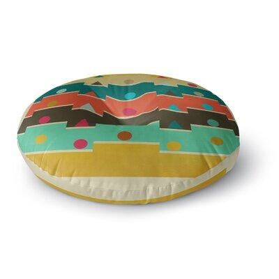 Bri Buckley Modern Graphics Geometry Round Floor Pillow Size: 23 x 23