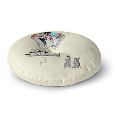 Bri Buckley Adventure Days Round Floor Pillow Size: 26 x 26