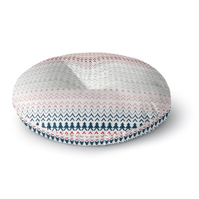 Bridgette Burton Revel Chevron Round Floor Pillow Size: 23 x 23, Color: Coral
