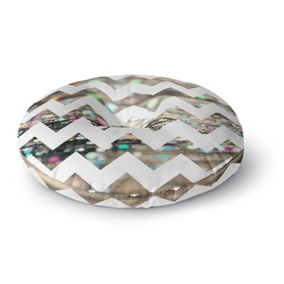 Beth Engel after Party Chevron Round Floor Pillow Size: 23 x 23