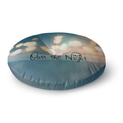 Beth Engel Own The Night Round Floor Pillow Size: 26 x 26