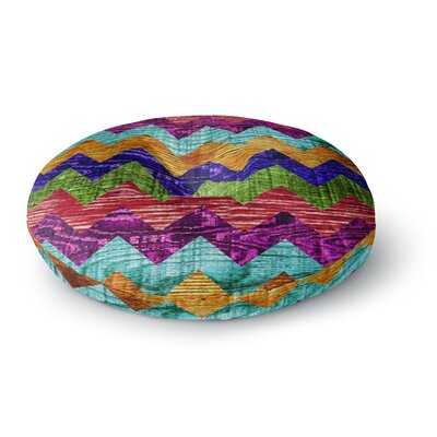 Beth Engel Natural Flow Chevron Round Floor Pillow Size: 26 x 26