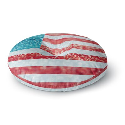 Beth Engel and Glitter Flag Round Floor Pillow Size: 23 x 23