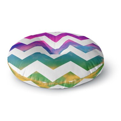 Beth Engel Lucky Chevron Round Floor Pillow Size: 23 x 23