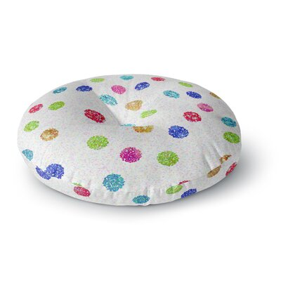 Beth Engel Seeing Dots Rainbow Round Floor Pillow Size: 26 x 26