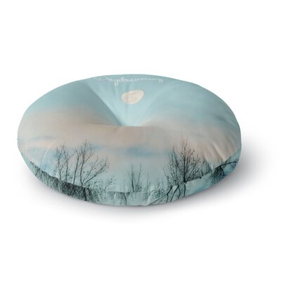 Beth Engel Day Dreaming Sky Clouds Round Floor Pillow Size: 26 x 26