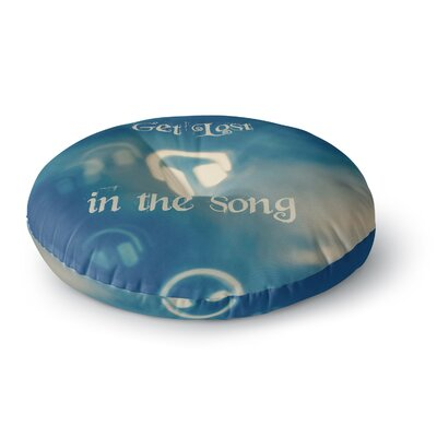 Beth Engel Get Lost in The Song Headphones Round Floor Pillow Size: 26 x 26