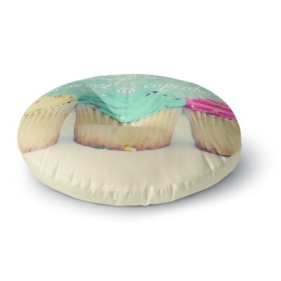 Beth Engel Life is as Sweet as Cupcakes Round Floor Pillow Size: 26 x 26