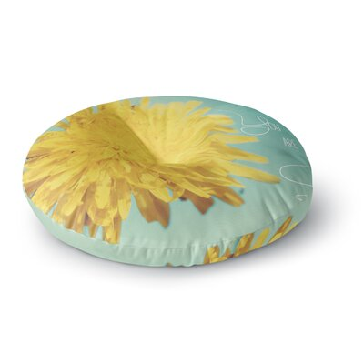 Beth Engel You are My Sunshine Flower Round Floor Pillow Size: 23 x 23