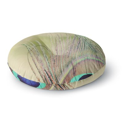 Beth Engel Sun Kissed Peacock Feather Round Floor Pillow Size: 26 x 26