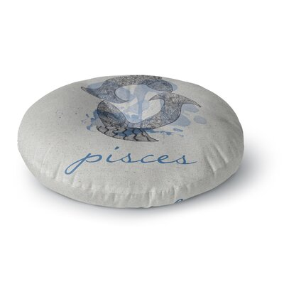 Belinda Gillies Pisces Round Floor Pillow Size: 26 x 26