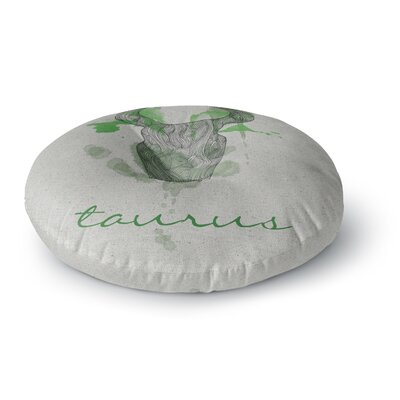 Belinda Gillies Taurus Round Floor Pillow Size: 26 x 26