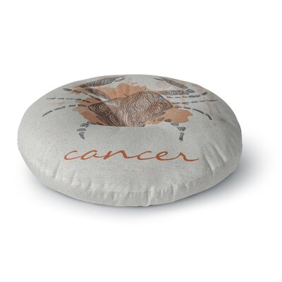Belinda Gillies Cancer Round Floor Pillow Size: 23 x 23