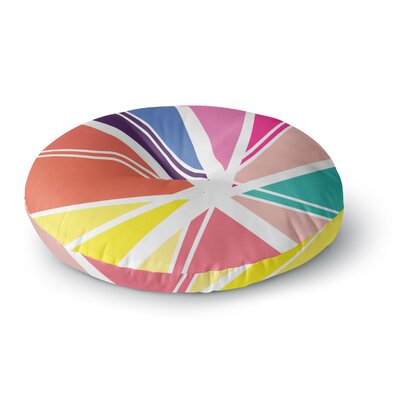 Belinda Gillies Boldly Bright Round Floor Pillow Size: 23 x 23