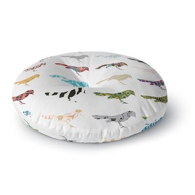 Belinda Gillies Birds Round Floor Pillow Size: 26 x 26