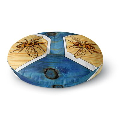 Brittany Guarino Bees Round Floor Pillow Size: 26 x 26