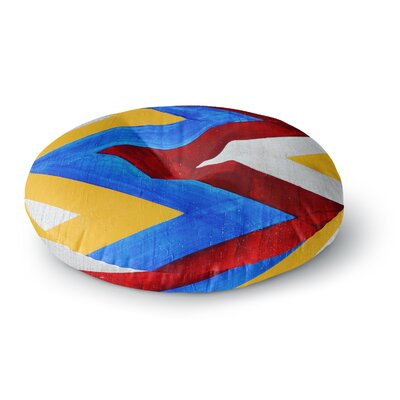 Brittany Guarino Zigzag Round Floor Pillow Size: 23 x 23