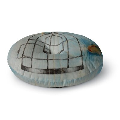 Brittany Guarino Bird Cage Round Floor Pillow Size: 26 x 26