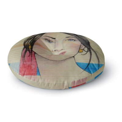 Brittany Guarino Face Round Floor Pillow Size: 26 x 26