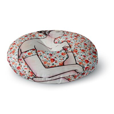 Brittany Guarino Spring Fashion Wood Flowers Round Floor Pillow Size: 26 x 26